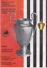 Programme / Programma Liverpool FC v Juventus FC 29-05-1985 UEFA Cup 1 FINAL