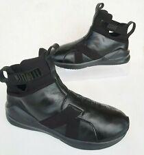 $145 NEW Puma Fierce Core Wmns Sz 8.5 BLACK LEATHER Training Slip On Shoes/COOL!