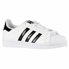 ADIDAS Superstar sz 13 White Black Reptile Snakeskin Scales Textured Shelltoe