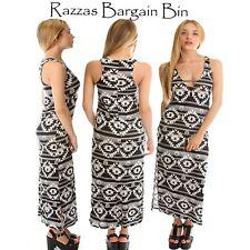 New Ladies Black & White Maxi Dress Plus Size 18/2XL (1314)MH