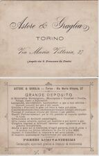 # TORINO: ASTORE & GRAGLIA- BIGLIETTO PUBBL. BICICLETTE REMINGTON- LAMPADE..
