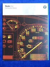 Skoda Fabia Limousine Combi - Technische Daten 2001 - Prospekt Brochure 10.2000