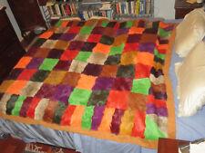 Amazing Large Rabbit Fur ETRO Throw Blanket (ETRO Home Collection)
