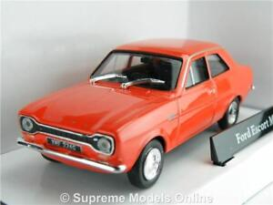 FORD ESCORT MK1 MODEL CAR 1:43 SIZE RED 1960'S 2 DOOR SALOON CLASSIC R01