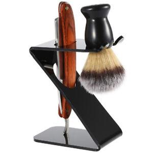Shaving Razor Arcylic Stand Shaving Brush Holder Organizer Barber Z Shape To.KF