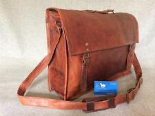 "Handmade Goat Leather 17"" Laptop Satchel SXL+ MacBook Bag Billy Goat Designs"