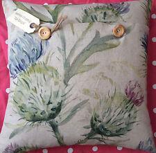 "Handmade cushion cover using Voyage Linen ""Thistle Glen"" (spring)"
