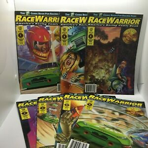 7 PC Lot Race Warrior Comic Book Volumes 1-7 America's Racing Comic Book