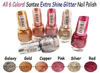 Glitter Nail Polish - Santee PLATINUM Extra Shine Glitter Nail Polish Set *NEW*