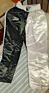 Top Vintage SDI Pantalon de Boxe Full Contact  Kick Boxing Pants Short Nylon XL