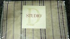 Studio D Full  bedskirt : brown/Khaki striped