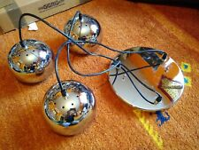 Spherical Chrome Globe Lamps Very 1960s Mod. Contemporary Chic Lamps