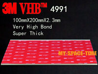 "3M 5906 BLACK VHB .006/""SUPER THIN FOAM TAPE 2/""X8/"" STRIPS FOR LCD REPAIR 5"