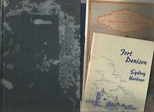 SYDNEY HARBOUR by Stephensen East Circular Quay Fort Denison Retrospect 4 Books