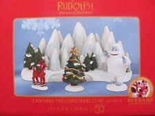 LIGHTING THE CHRISTMAS STAR Figurine Set Dept 56 2013 rudolph misfit toys NEW