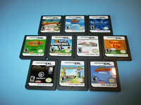 Lot of 10 Nintendo DS Lite DSi XL 3DS 2DS Games New Super Mario Kart Star Wars +