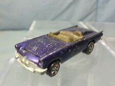Vintage Mattel Hot Wheels: Redline 1968 CLASSIC 57 BIRD Purple w Brown Interior