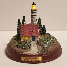 Thomas Kinkade~Clearing Storms Lighthouse/Cottage Figurine~Lights Up!