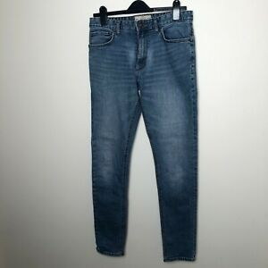NEXT Navy Blue Denim Jeans Skinny / Slim Fit Mens Size 30L Long