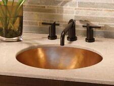 """Copper Oval Bath Sink Smooth Finish 17""""x12.5"""""""