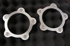 "American Racing Torq Thrust D Aluminum Flat Block Off Dust Center Caps 2 1/4"""