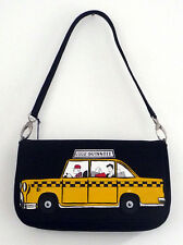 Lulu Guinness New York Cab Maggy Canvas Clutch Optional Strap Bag NEW