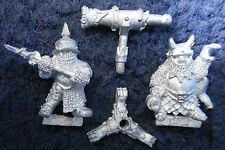 1988 caos Enano Giratorio Pistola armas equipo Redondo Citadel Warhammer ejército Cannon mal