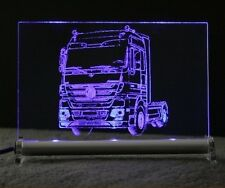 Actros tracteur comme Gravure Sur DEL-bouclier Truck Camion