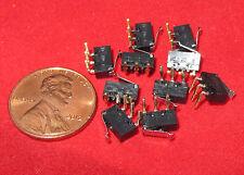 10x Panasonic AV4 Microswitch 30VDC 500mA Sub Miniature Roller Lever SPDT TINY K