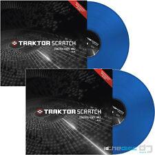 TRAKTOR Scratch Control Vinyl MK2 BLU, codice di tempo, il codice temporale in Vinile X2 (coppia)