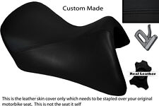 BLACK STITCH CUSTOM FITS BMW R 1200 RT FRONT LEATHER SEAT COVER FOR A LOW SEAT