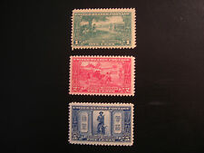 United States Scott 617 - 619, the Lexington Concord Issue from 1925