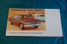 Rambler for 1963 Foldout Advertising Poster