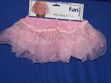 REDUCED Adult Sequined Fancy Dress TuTu   Pink White or Black  One Size:Regular