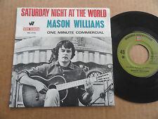 """DISQUE 45T DE MASON WILLIAMS  """" SATURDAY NIGHT AT THE WORLD """""""