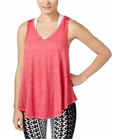 New Calvin Klein Performance Women Relaxed Icy Wash Yoga Tank Top PF6T3412 Pink