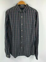 Stussy Mens Button Up Shirt Long Sleeve Size Large Smart Casual Shirt