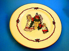 Vintage Fitz & Floyd Victorian Christmas Plate Decorating The Chimney 1982 Japan