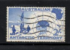 (ref-6369) Territoire Antarctique AUSTRALIEN 1957 2 / - Ultramarine sg.no1 utilisé