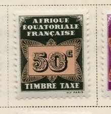 French Equatorial Africa 1937 Postage Due Issue Fine Mint Hinged 50c. 144040