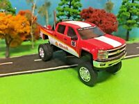 Custom Lifted 2015 Chevrolet Silverado, 1/64 Scale, Shell Fire Truck, No.16