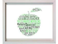 Personalised Teacher Word Art Thank You Christmas Gift Apple Gifts Present Xmas