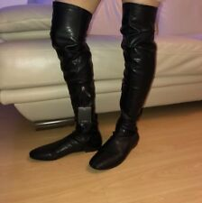 ZARA FLAT OVER-THE KNEE STRETCH BOOTS SIZE UK 4 BNWT