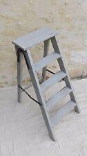 Escabeau bois ancien/échelle de peintre/support plantes/étagères rétro/. A538