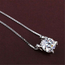 Women Cubic Zirconia Pendant Silver Plated Drop for Necklace Chain Jewelry Best
