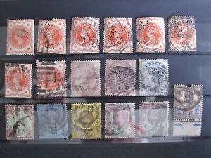 GB - Victoria to Edward VII - 16 PERFINS + one other - most are used
