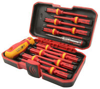 Tolsen VDE Insulated Screwdriver Interchangeable Magnetic Set 13pcs in Case