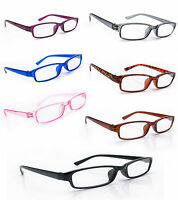 Women Men READING GLASSES +0.5 +1.0 +1.5 +2.0 +3.0 +.Eyeglasses  Slim Frame