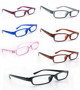 Women Men READING GLASSES +0.5 +1.0 +1.5 +2.0 +3.0  Eyeglasses  Slim Frame