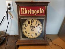Vintage Rheingold Beer Advertising Clock